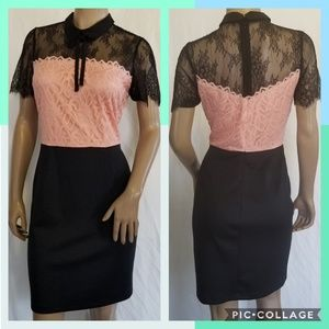 Laced  top pencil dress